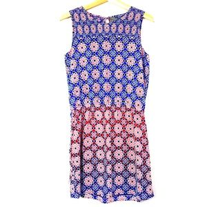 Red and Blue Vince Camuto Dress S